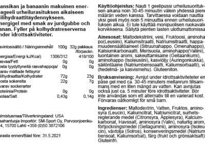 GU energiageeli Mansikka-banaani 31.5.2021